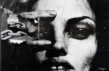 Burhan Dogançay, 'Face with Chain NYC', 1999