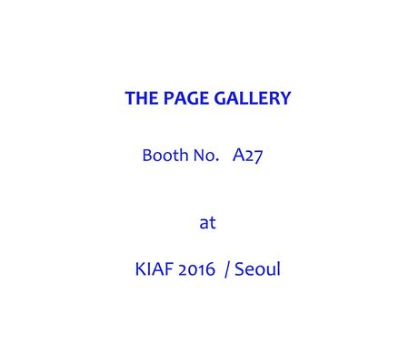 The Page Gallery at KIAF 2016, installation view
