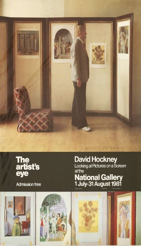 David Hockney, 'The Artist's Eye - Looking at Pictures on a Screen', 1981, Print, Offset lithographic poster printed in colours, Sworders