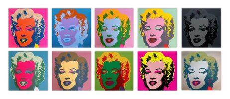 Andy Warhol, 'Marilyn Suite (Sunday B. Morning), 10 Silkscreen Artworks', 1970-2020