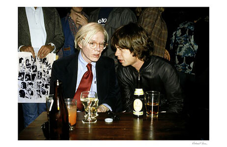 Richard E. Aaron, 'Andy Warhol and Mick Jagger in Color'