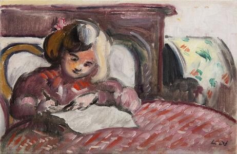 Louis Valtat, 'Enfant écrivant', 1914