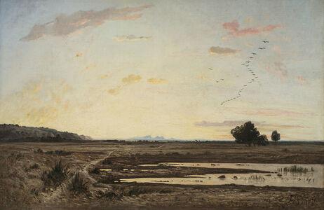 Paul Guigou, 'La plaine de la Crau, effet de crépuscale (Provence) (The Plain of La Crau, Twilight Effect (Provence) ', 1870