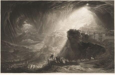John Martin (1789-1854), 'Joshua Commanding the Sun to Stand Still', 1827