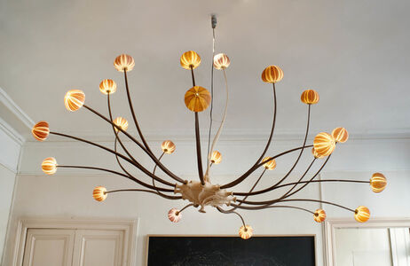Nicolas Cesbron, 'Large sea urchin chandelier with 22 branches', 2016