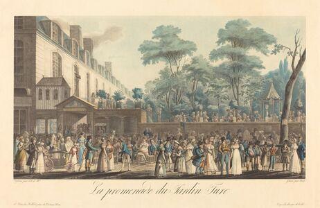 Jean-Pierre-Marie Jazet, 'La promenade au Jardin Turc,  after Jean Joseph Bastier de Bez'