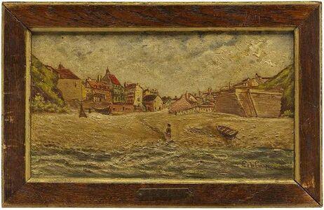 Jules Leblay, 'French Seascape, Oil on Board', 20th Century
