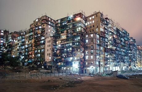 Greg Girard, ''Kowloon Walled City Night View from SW Corner' Hong Kong', 1987