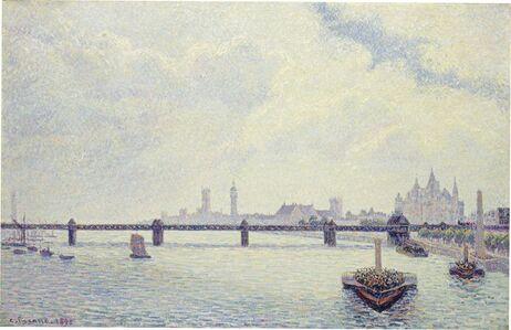 Camille Pissarro, 'Charing Cross Bridge, London', 1890