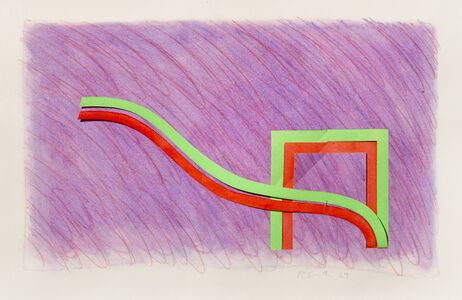 Richard Smith (1931-2016), 'Purple, Red and Green Intersections', 1969
