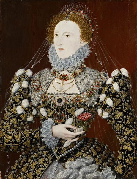 "Nicholas Hilliard, 'Elizabeth I of England, the ""Phoenix"" portrait', ca. 1575"