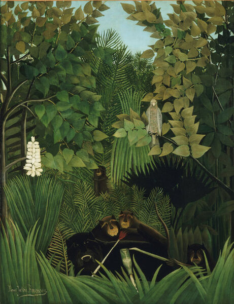 Henri Rousseau, 'The Merry Jesters', 1906