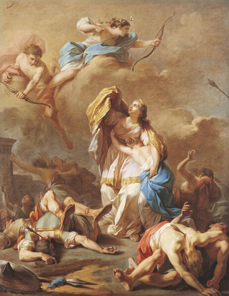 Pierre-Charles Jombert, 'Apollo and Diana Killing the Children of Niobe', 1772