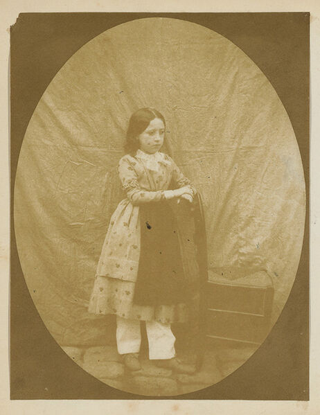 Hippolyte Bayard, 'Portrait d'une Jeune Fille (Georgina Benoist) avec Chaise', 1847c/1847c