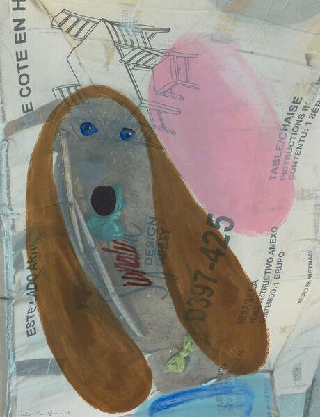 David Humphrey, 'Pooch on Cardboard', 2019