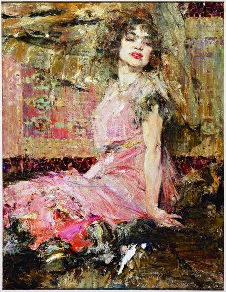 Nicolai Fechin, 'Lady in Pink(Portrait of Natalia Podbelskaya)', 1912