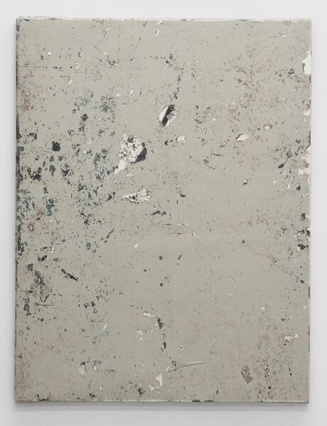 Olve Sande, 'Linoleum composition in grey with knife II', 2012