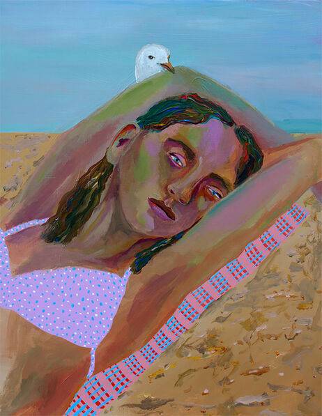 Ally White, 'Girl with Seagull', 2016
