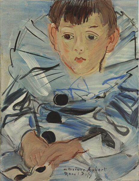 Raoul Dufy, 'Portrait de Claude Moulon en habit de Pierrot', 1935