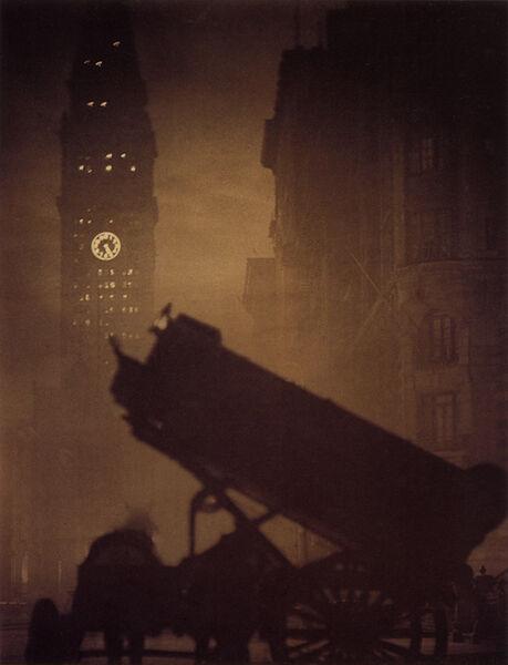 Alvin Langdon Coburn, 'The Coal Cart and the Tower', ca. 1910