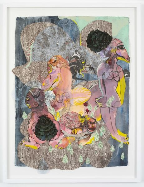 Rina Banerjee, 'A new citizen of a new family, a new comer, like  immigrant farmer, a stolen child or a adopted love she enters her grooms world as welcomed guest or hungry pest.', 2018
