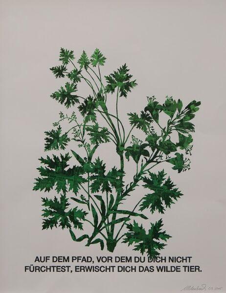 Marcel Odenbach, 'Blattstaude mit Feuerlilie (grün)', 2015