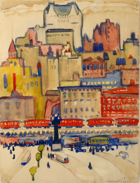 William Zorach, 'Quebec City,  Fauve Landscape', 1913