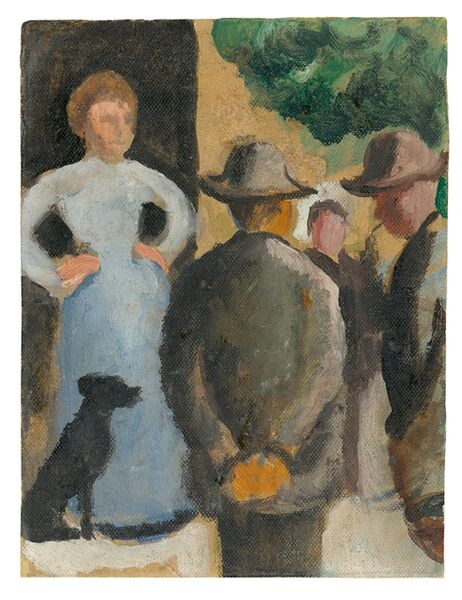 August Macke, 'Leute auf der Straße', 1909/10