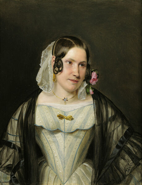 Ferdinand Georg Waldmüller, 'Portrait of a Young Woman', 1840