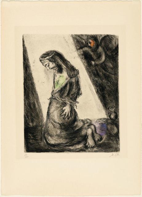 Marc chagall souffrances de j r mie 1958 artsy for Biographie de marc chagall