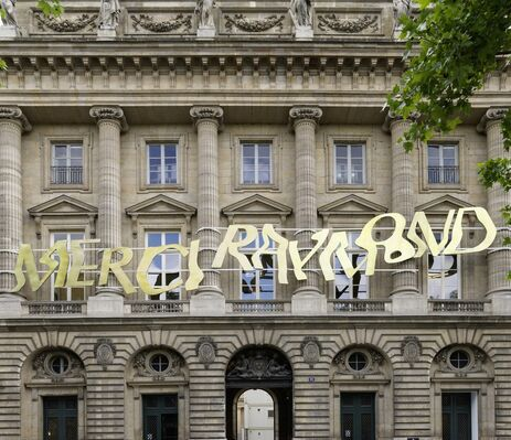 Merci Raymond by Bertrand Lavier, installation view