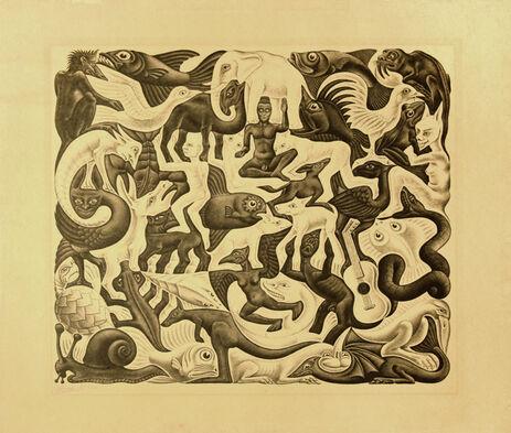 Escher-Reptiles-1988 Poster M.C