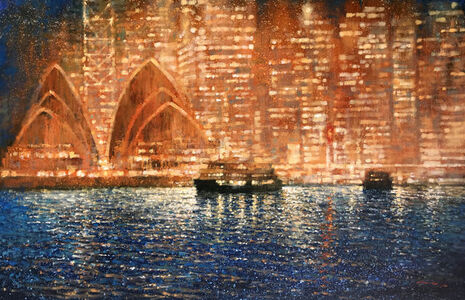 David Hinchliffe, 'Harbour Lights, Opera House', 2019