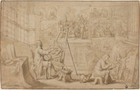 Frans Francken the Younger, 'An Artist's Studio [recto]'