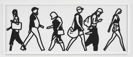 Julian Opie, 'Walking in Melbourne 1', 2018