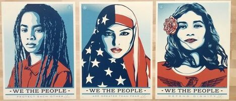 "Shepard Fairey (OBEY), '""We The People""', 2017"