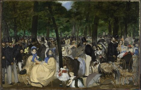 Édouard Manet, 'Music in the Tuileries Gardens', 1862