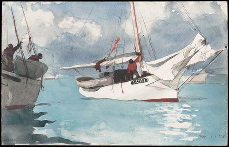 Winslow Homer, 'Fishing Boats, Key West', 1903