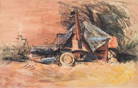 Donald Friend, 'Farm Machinery, Henham, Essex', 1950