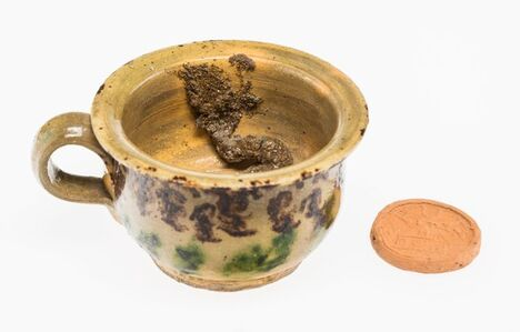 George E. Ohr, 'Chamber Pot and Brothel Coin', circa 1895