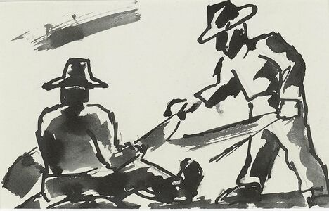 Josef Herman RA, 'Field Workers'