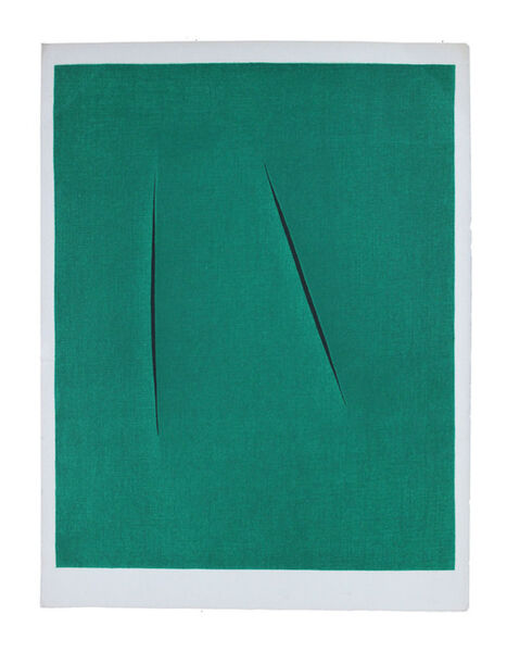 Lucio Fontana, 'Concetto Spaziale (from XXe Siecle)', 1975