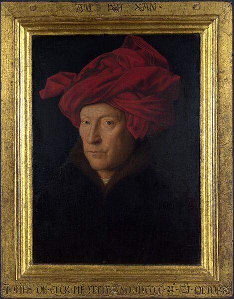Jan van Eyck, 'Man in a Red Turban (Self Portrait?)', 1433