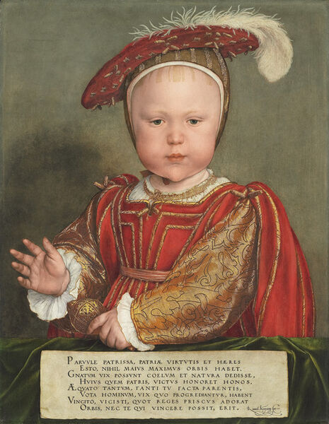Hans Holbein the Younger, 'Edward VI as a Child', ca. 1538