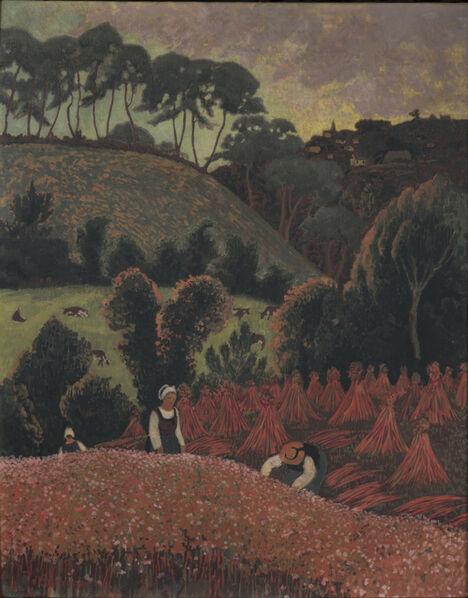 Paul Sérusier, 'La moisson du sarrazin, vue sur Châteauneuf-du-Faou', 1900