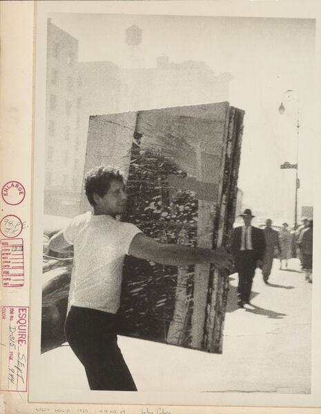 John Cohen, 'Alfred Leslie, 4th Ave. NY', 1960