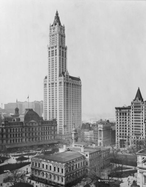 Cass Gilbert, 'Woolworth Building', 1911-1913