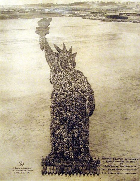 Mole and Thomas, 'Human Statue of Liberty', ca. 1918