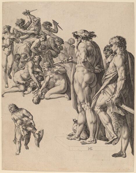 Hendrik Goltzius, 'The Massacre of the Innocents', ca. 1584