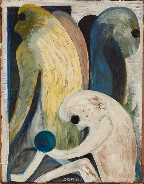 Jon Serl, 'Looking Backward', 1960